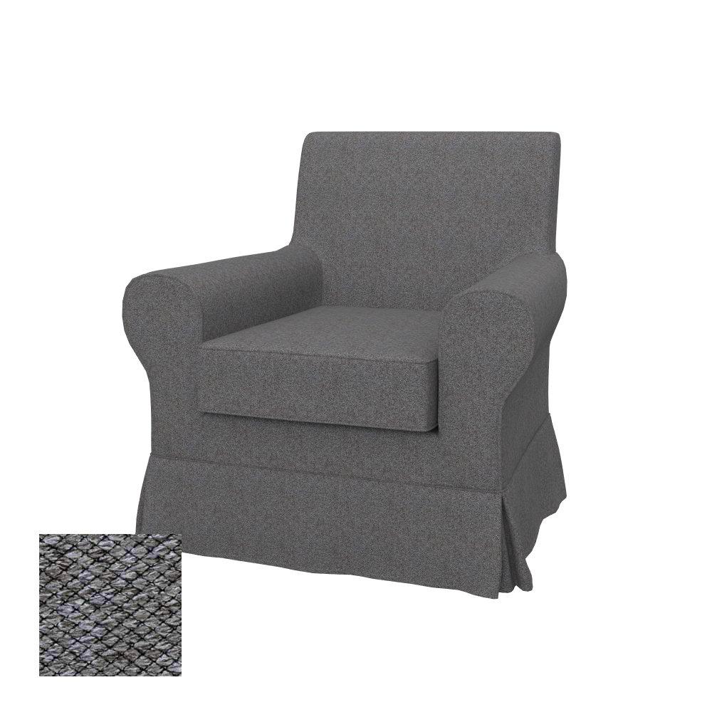 Soferia - Bezug fur IKEA EKTORP JENNYLUND Sessel, Nordic Grau