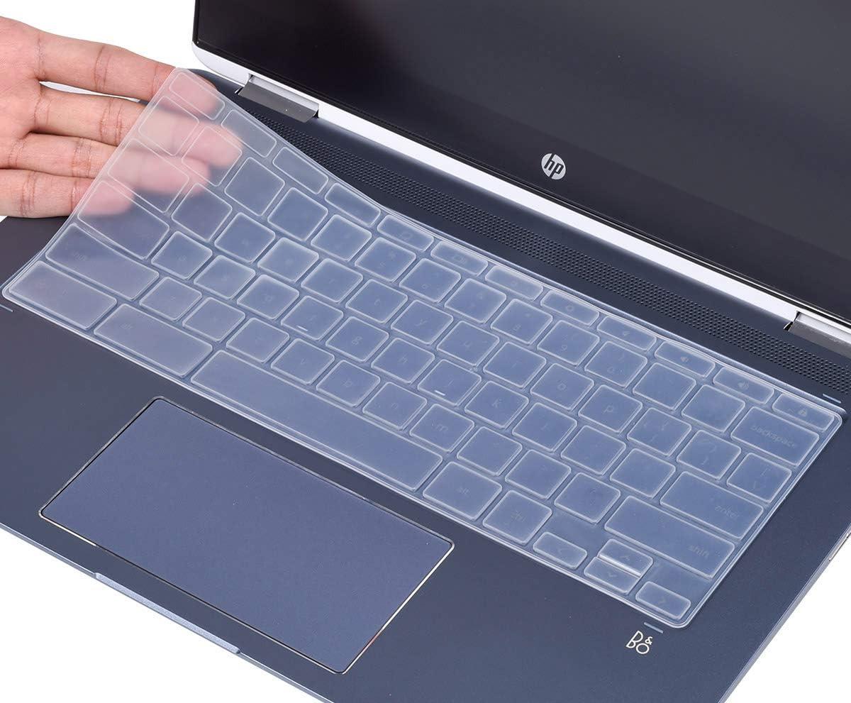 """CaseBuy Ultra Thin Keyboard Cover for HP 2-in-1 14"""" Touch-Screen Chromebook 14-DA 14B-CA Series, HP Chromebook X360 14 inch Keyboard Skin, Clear"""