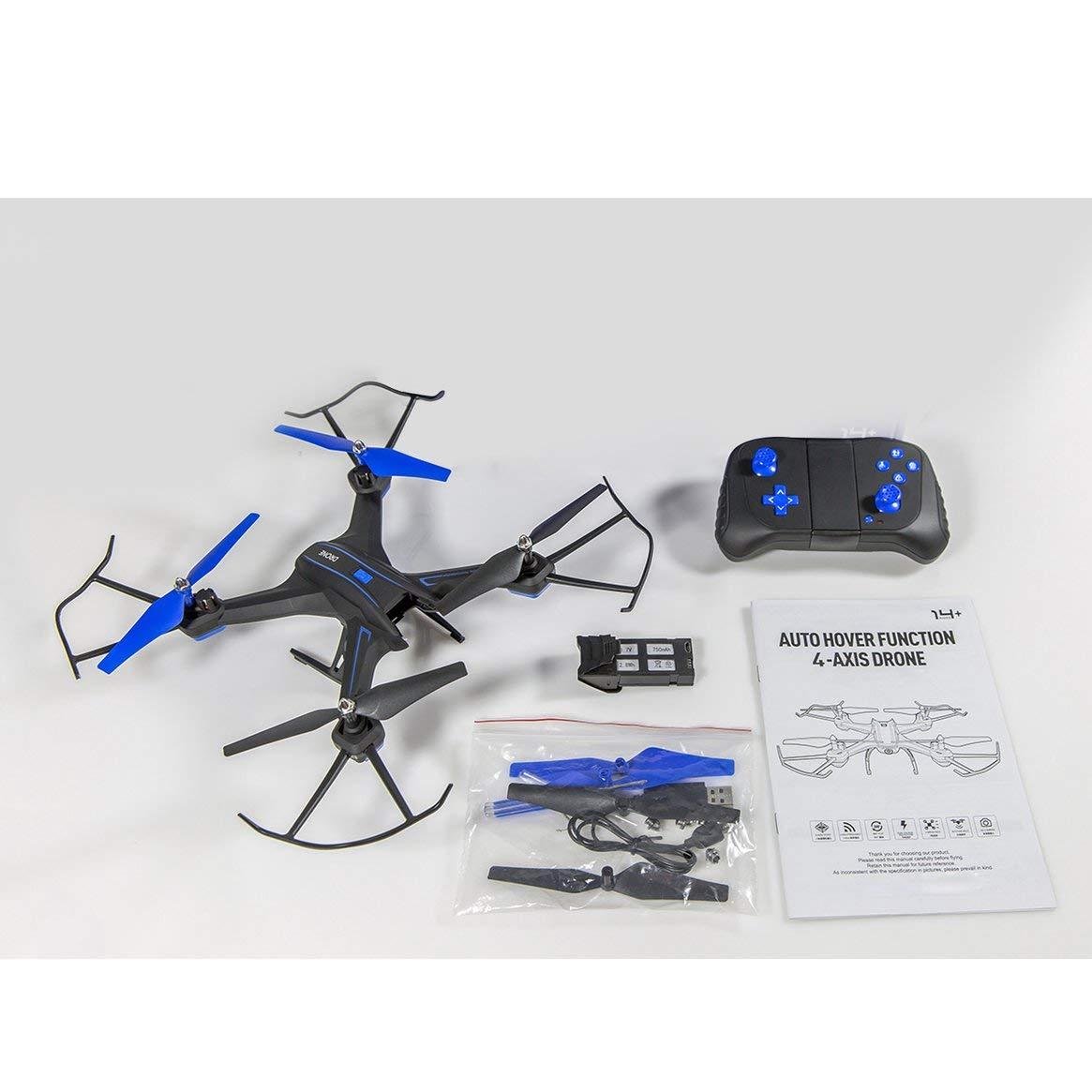 Delicacydex S6W-2 Smart Selfie RC Quadrocopter-Drohnenflugzeug mit WLAN FPV 720P Weitwinkel HD Echtzeitkamera Höhenlage Headless-Modus - Schwarz