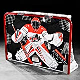 HOCKEYSHOT EXTREME SHOOTER TUTOR Hockey Training Aids Red Black and White Shooting Tarp for use on Goals