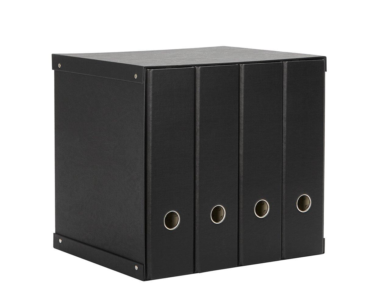 Pardo 924403 - Modulo con 4 archivadores, color negro: Amazon.es: Oficina y papelería