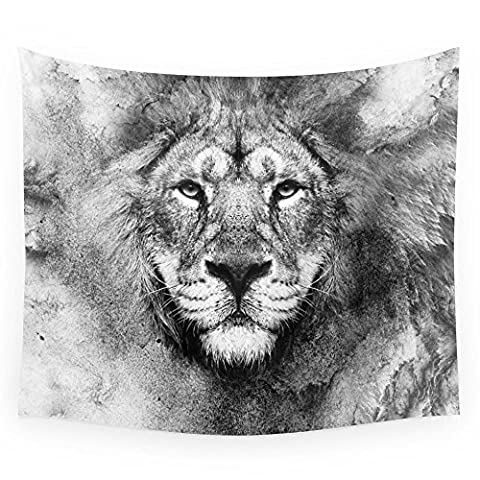 Society6 Lion Black And White Wall Tapestry Small: 51