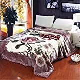 Raschel Blanket Weighted Fleece Napping Throw Snuggle Reduce Anxiety Help Autism Bed Couch Cozy Warm Smooth Heavy Thanksgiving Wedding Christmas Birthday Gift,for Kids Twin,150×200cm 2.4kg