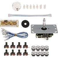 Fityle Arcade DIY Kit USB Encoder Game Botón Palanca de Mando Control Rocker Kit - Blanco