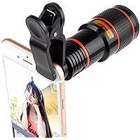 Objektif Clip-On 12x Teleobjektif, objektif için objektif ile kamera Cep telefonu kılıfı objektif balık gözü, Clip fotoğraf makinası lensi kılıfı Samsung/iPhone/Huawei fotoğraflar için