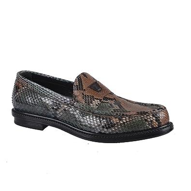 3c2010ab4e5e Yves Saint Laurent Men s Python Skin Loafers Slip On Shoes US 7 UK 6 EU 40