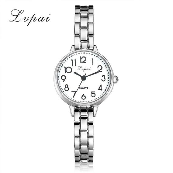 2017 caliente ventas. SINMA Fashion mujer relojes aleación de encanto pulsera fina de correa analógico cuarzo reloj de pulsera: Amazon.es: Relojes