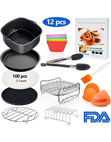 Square Air Fryer Accessories 11 pcs with Recipe Cookbook Compatible for Philips Air Fryer, COSORI