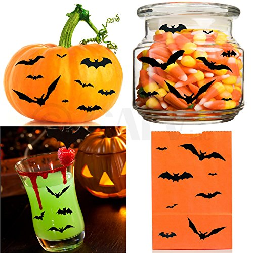 Halloween Small Bats Set of 130 wall decal stickers Halloween spooky scary self adhesive removable]()