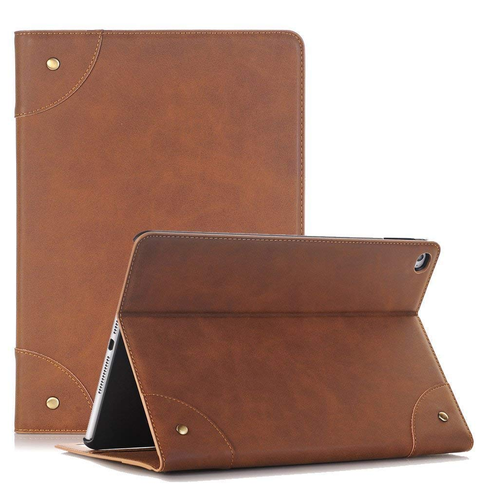 2019 iPad Mini 5 Cover, YiMiky Lightweight PU Leather Case with Card Holder Ultra Slim Smart Stand Shell Protection Cover for 7.9 Inch iPad Mini 5 2019/ iPad Mini 4 2015 - Light Brown