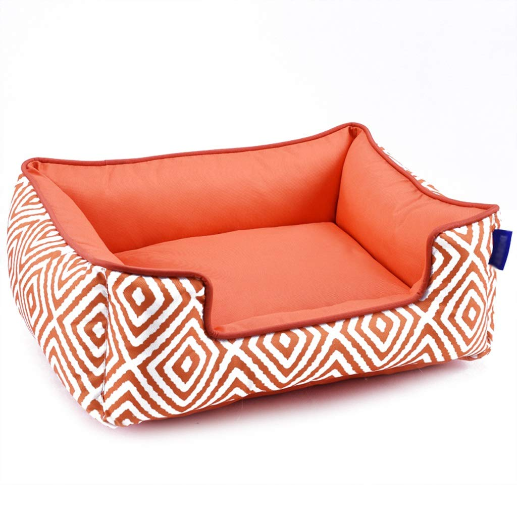 orange SmallBeds Pet Cat and Dog Bed, Soft and Comfortable, Washable Cat and Dog Bed Beds (color   bluee, Size   M)