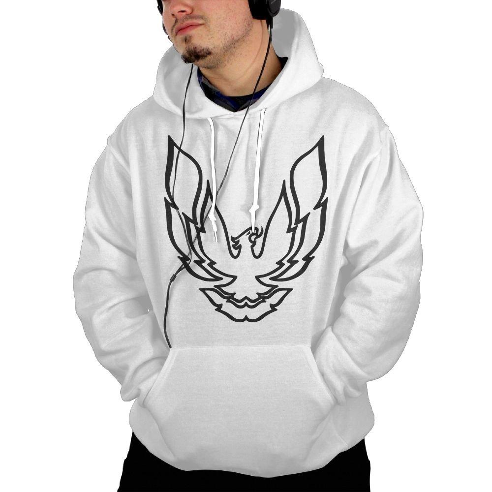 Pontiac Firebird Logo Mens Hoodies Sweatshirt with Pocket Sweatshirt White