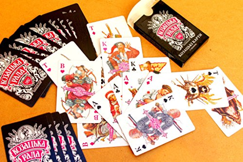 Deluxe MOTHER'S DAY SALE 36 Playing Cards Deck Ukrainian Board Games Cossack Council Vladislav Yerko by Deluxe