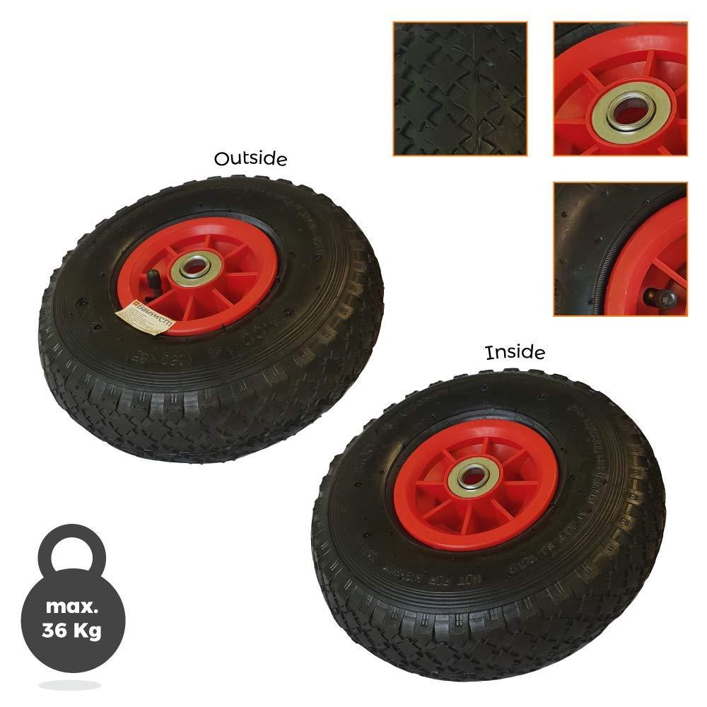 Roue pneumatique Bauswern 3.00-4 En plastique Pour chariot ou brouette