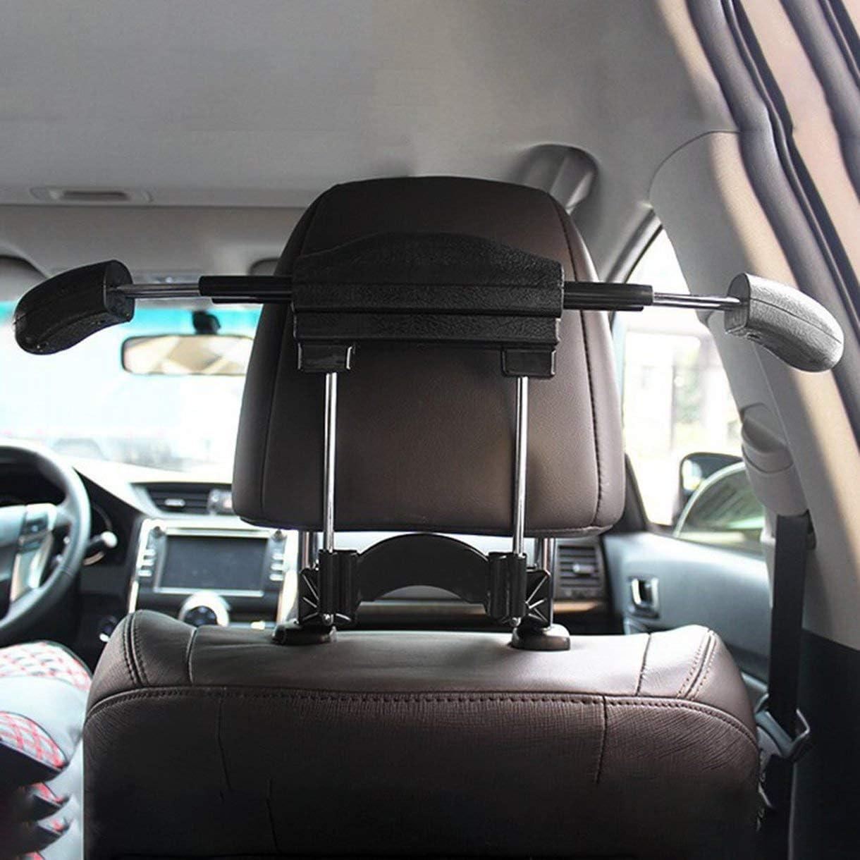 Mini voiture cintre v/êtements durable porte-manteau cintre extension-type voiture utilisation cintre accessoire de voiture installation facile couleur: noir