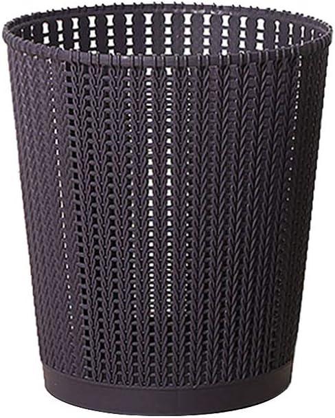 Cabilock Mini Open Wastebasket Plastic Mesh Trash Can Dustbin Garbage Box Litter Container for Desktop Iving Room Bedroom Kitchen (Dark Purple,5.7x5.7x6.8inch)