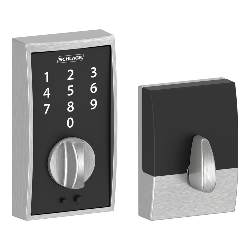 Schlage BE375 CEN 619 Century Touch Deadbolt, Satin Nickel