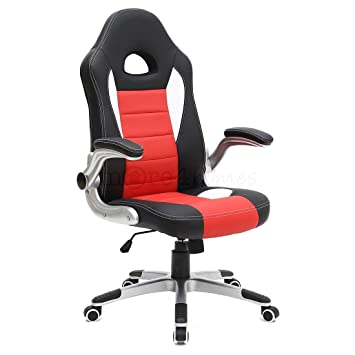 MORE4HOMES CRUZ SPORT RACING CAR OFFICE CHAIR FAUX LEATHER ADJUSTABLE ARMS GAMING DESK BUCKET  sc 1 st  Amazon UK & MORE4HOMES CRUZ SPORT RACING CAR OFFICE CHAIR FAUX LEATHER ...