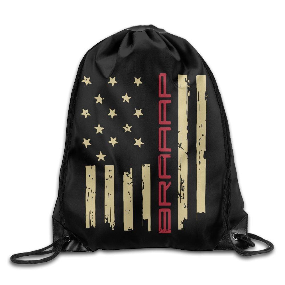 Drawstring Sports Backpack Brraaap Dirt Bike Motocross Men and Women Gym Sport Yoga Rucksack Shoulder Bags