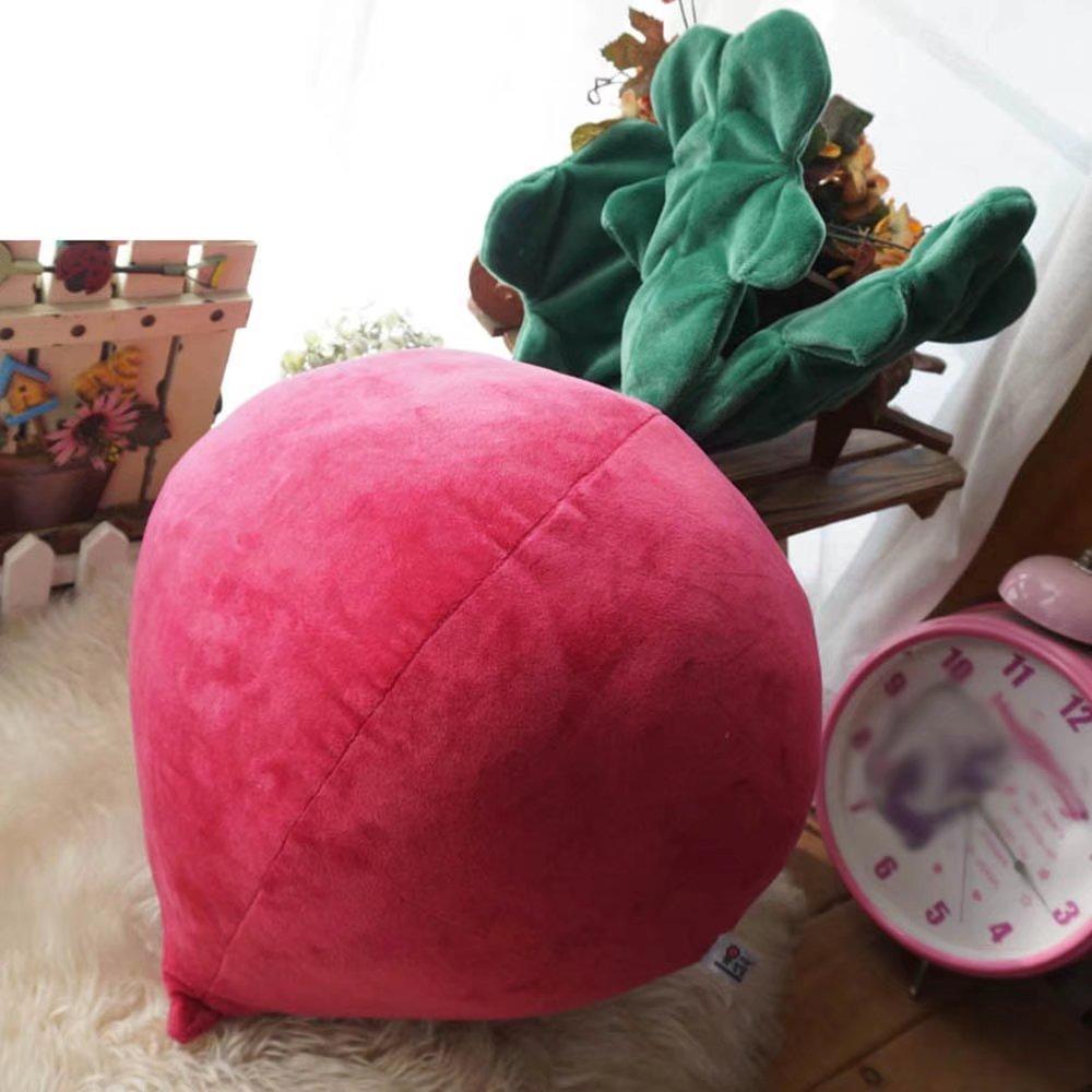 MAIKA HOME Cuscino vegetale simpatico cartone animato/cuscino grande ravanello/giocattolo/regalo ragazza (misura: 50cm) MAI KA JIA JU