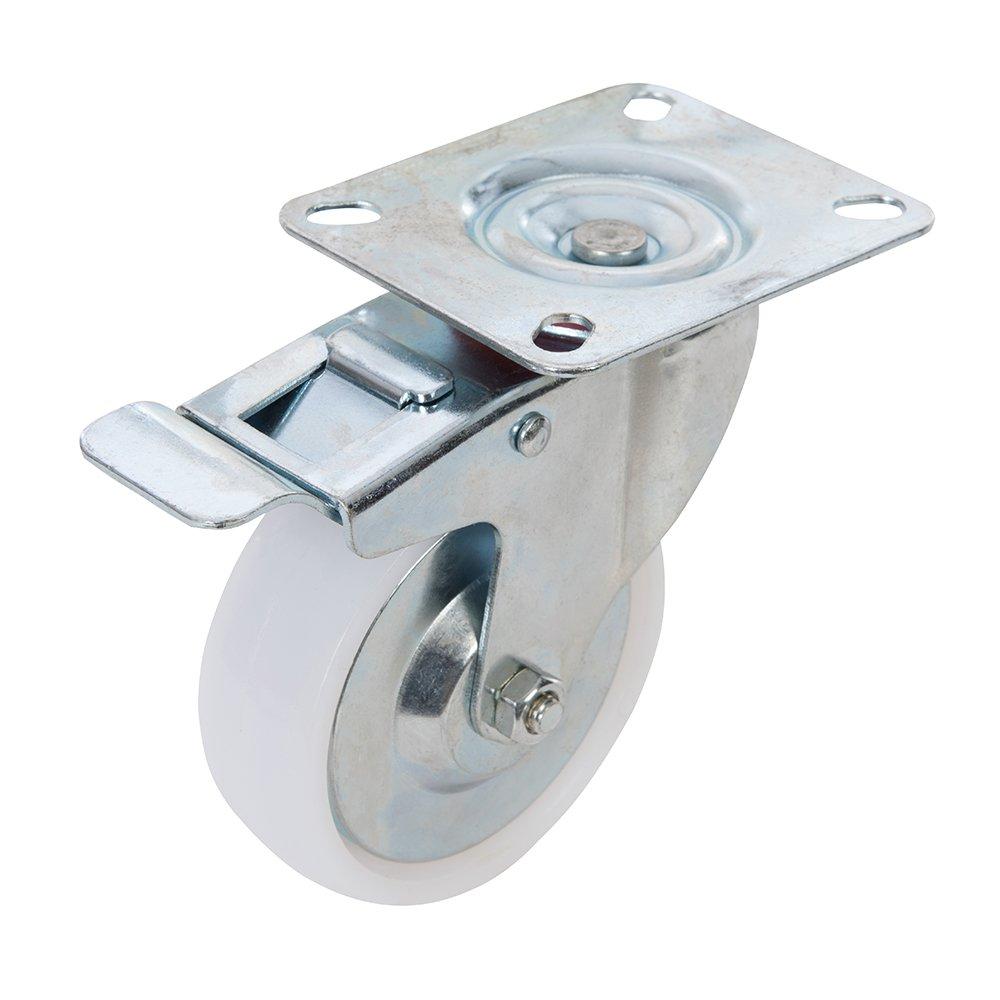 Fixman Roulette pivotante en polypropylè ne 125 mm avec frein (160kg) 144459