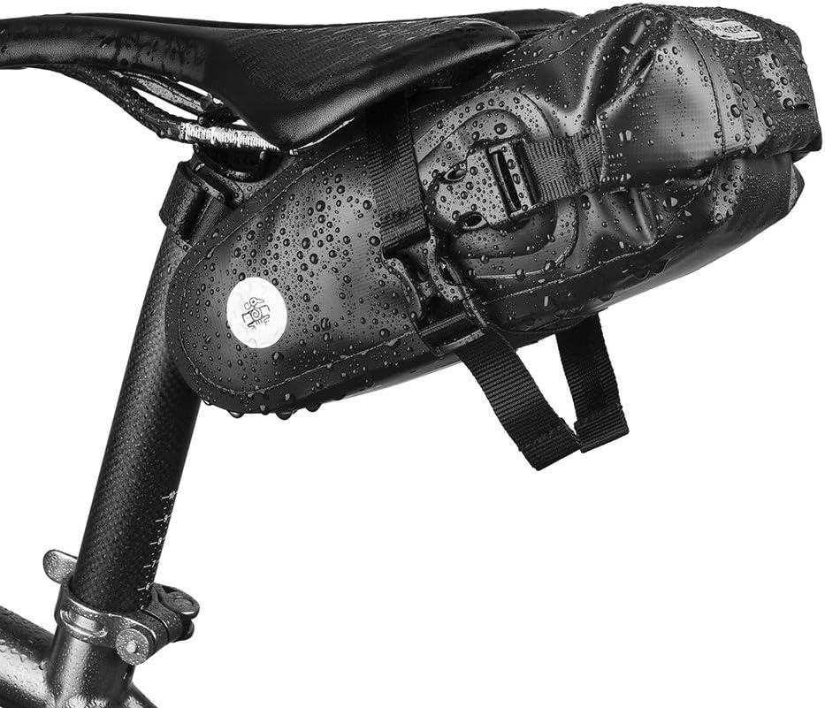 THRLEGBIRD Bike Saddle Bag,Waterproof Bicycle Bag, Cycling Seat Bag, Portable Storage Bag for Bike Seat 2L Large Capacity, Suitable for Road Bike, Folding Bike