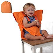 Baby High Chair Feeding Booster Safety Seat Harness Cover Sack Cushion Bag, IGIYI Adjustable Portable Travel Washable Orange Belt for Kid Toddler