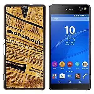 YiPhone /// Prima de resorte delgada de la cubierta del caso de Shell Armor - Periódico de la lengua tailandesa Cartas Arte del texto - Sony Xperia C5 Ultra