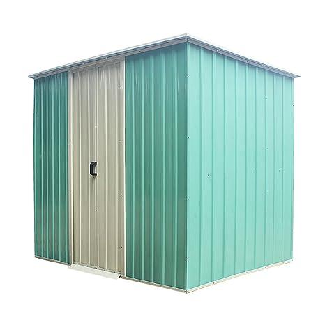 Panana Cobertizo de metal sin suelo para jardín, techo Apex, incluye kit