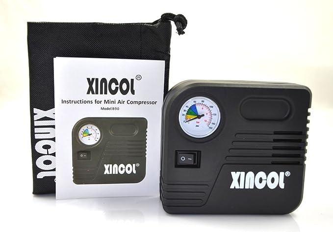 XINCOL Compresor de aire eléctrico, portátil, de emergencia, ideal para inflar neumáticos de coche, motocicleta y colchonetas, de 12 V: Amazon.es: Coche y ...