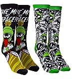 Men's Space Jam Casual Crew Socks (Marvin)