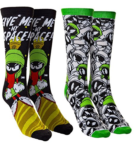 Mens Space Jam Casual Crew Socks (Marvin)