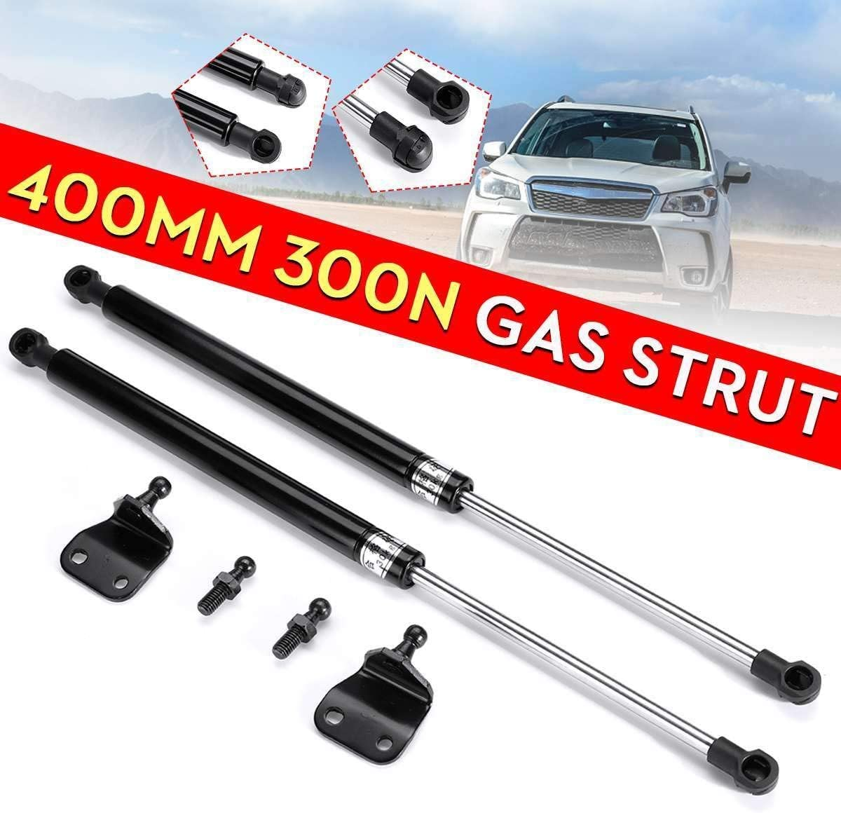 NO LOGO 2X Universal 40cm 400mm 300N Car Struts Front Cover Bonnet Hood Rear Trunk Tailgate Boot Shock Lift Strut Support Bar Gas Spring