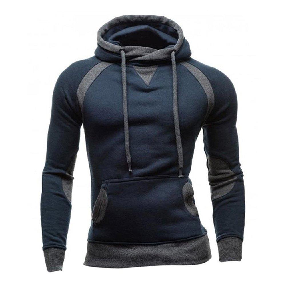 Juleya Hoodie Sweatshirt Casual Pullover - Autumn Winter Men's Hooded Jumper Slim Long Sleeve Shirt Sport Tops Outwear with Front Pocket T171112MH2-J