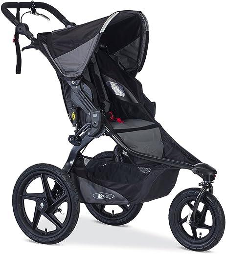 BOB Revolution PRO Jogging Stroller - Up to 75 Pounds - UPF 50+ Canopy - Easy Fold - Adjustable Handlebar with Hand Brake , Black