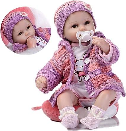 Lifelike Dolls 18 Inch//45cm Reborn Doll Baby Girls Newborn Baby Kids Toys