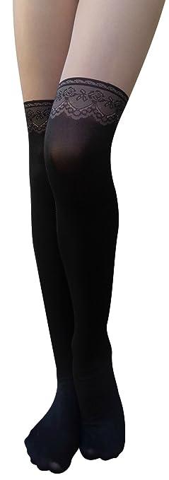 1920s Style Stockings, Tights, Fishnets & Socks AM Landen Mock Thigh High/Mock Garter/Printed Tights/Tatoo Pantyhose $8.65 AT vintagedancer.com