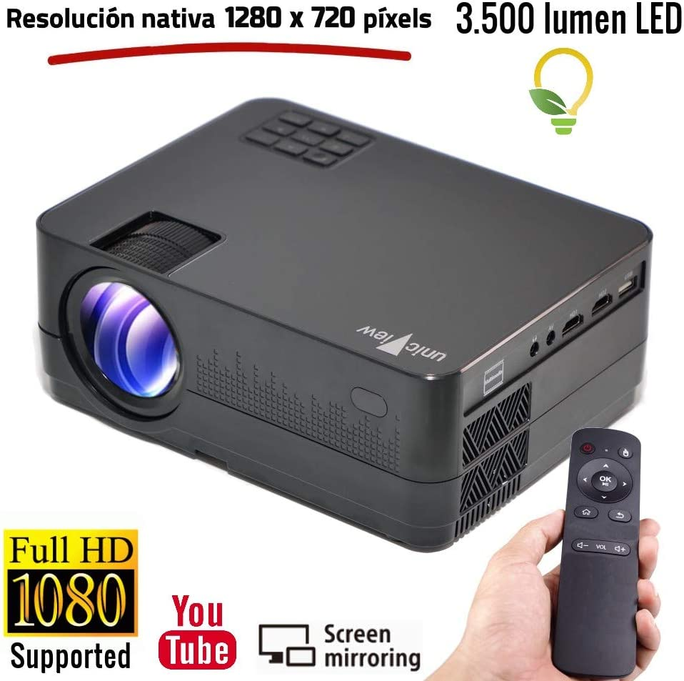 Proyector Full HD 1080P, Unicview HD320 (2019 Nuevo), Proyector ...