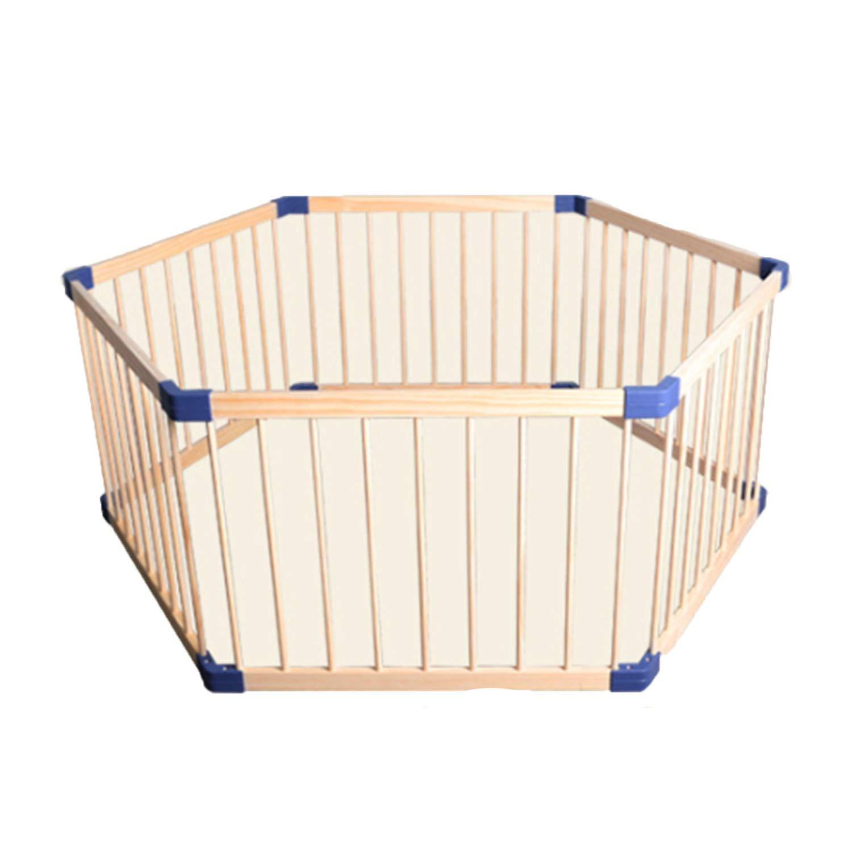 人気新品 赤ちゃんの赤ちゃんのフェンスの子供のゲーム屋内の木製のフェンスの幼児クロウリング無垢材の安全フェンスのフェンス B07J316M2L, 手芸店 mercerie de ambience:24df9acb --- a0267596.xsph.ru
