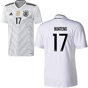 adidas DFB Alemania fútbol Camiseta Home Hombre 2017 2018 Jerome Boateng 17 color blanco negro, Weiß: Amazon.es: Deportes y aire libre