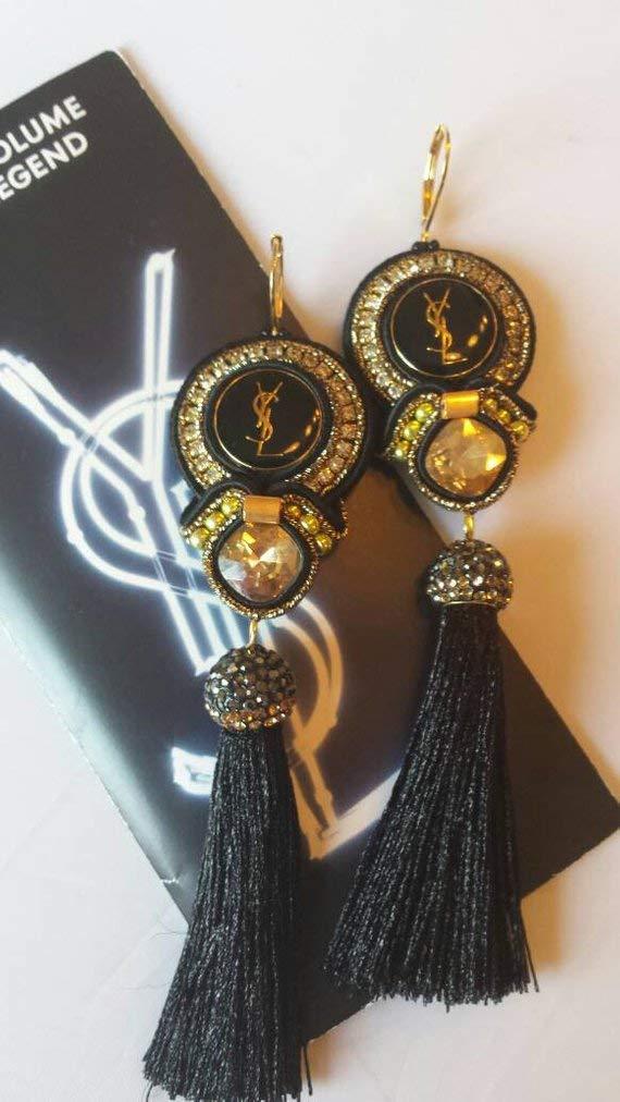 Soutache Ohrringe Aus Von YslHandmade Knöpfen Authentischen AjRLSc435q