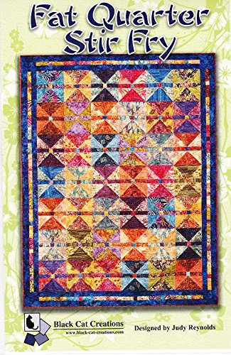 Fat Quarter Stir Fry Quilt Pattern by Judy Reynolds Black Cat Creations 75 x 96