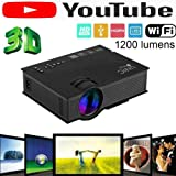 UNIC 2018 UC46 Mini Full hd LED WiFi Projector 1200 lumi HDMI Airplay DLAN