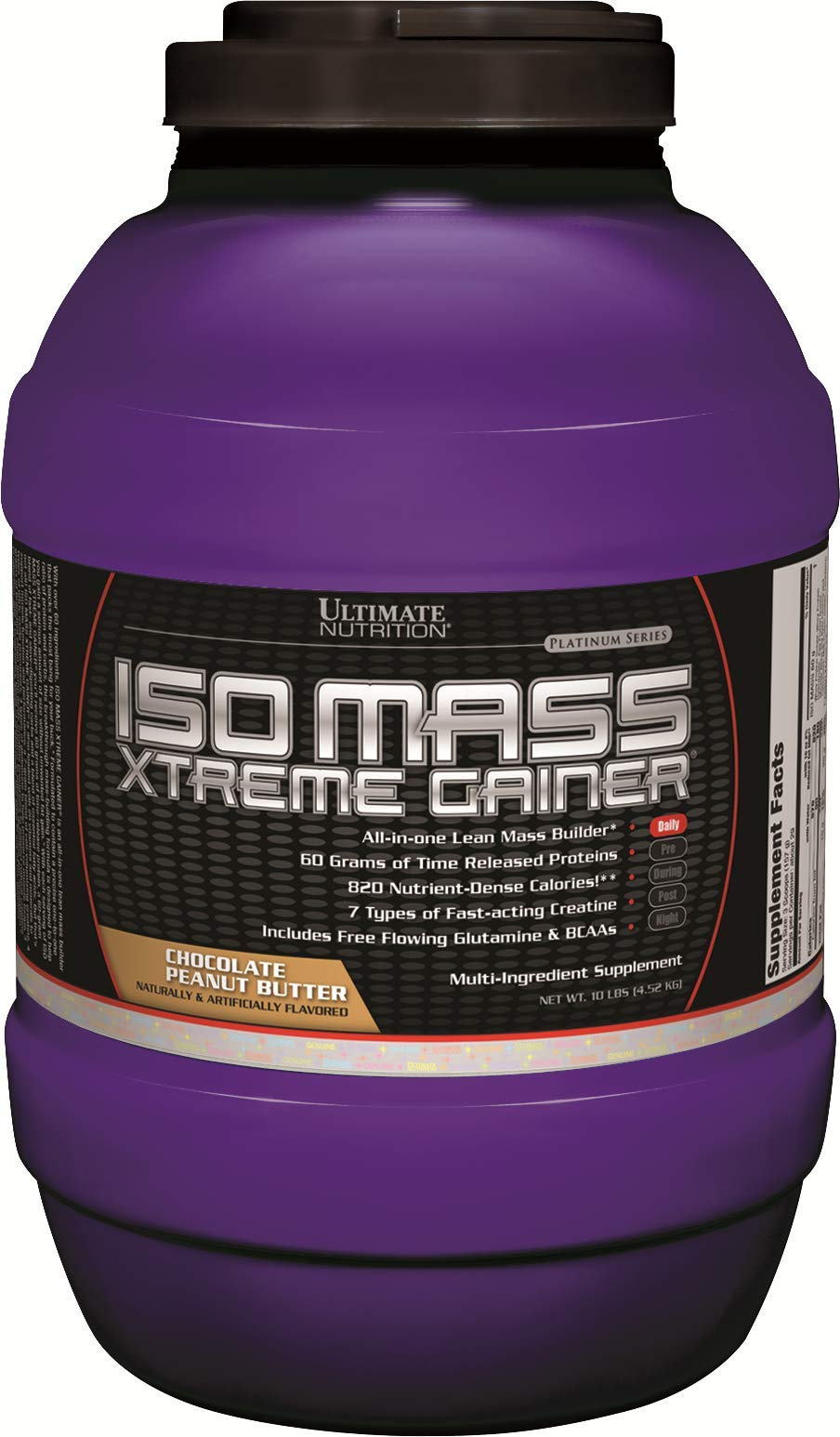 Ultimate Nutrition Iso Mass Xtreme Gainer Serious Weight and Lean Muscle Mass Protein Powder, Chocolate Peanut Butter, 30 Servings