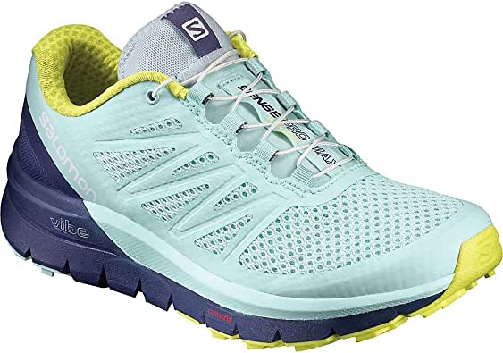 Salomon Sense Pro MAX W, Zapatillas de Trail Running para Mujer, Azul (Fair Aqua/Crown Blue/Sulphur Spring), 36 EU: Amazon.es: Zapatos y complementos