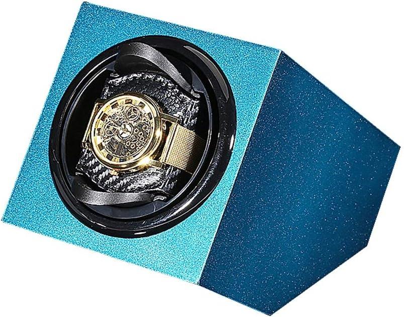 ワインディングマシーン ウォッチワインダー, 静音設計 2 Way式充電, 腕時計収納ボックス, 時計自動巻きレディース、メンズ時計 (Color : Blue)