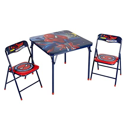 Fabulous Marvel Spider Man Table Chair Set Andrewgaddart Wooden Chair Designs For Living Room Andrewgaddartcom