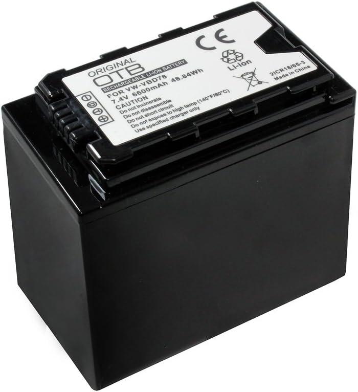 OTB Battery 6600mAh for Panasonic AG-AC8 VW-VBD78; replaced: Panasonic VW-VBD29 VW-VBD58
