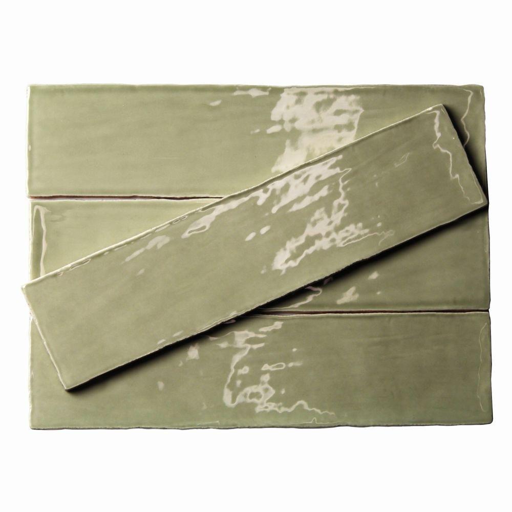 Splashback Tile CAT3X12KALE  Catalina Kale 3 In. x 12 In. x 8 Mm Ceramic Floor & Wall Subway Tile