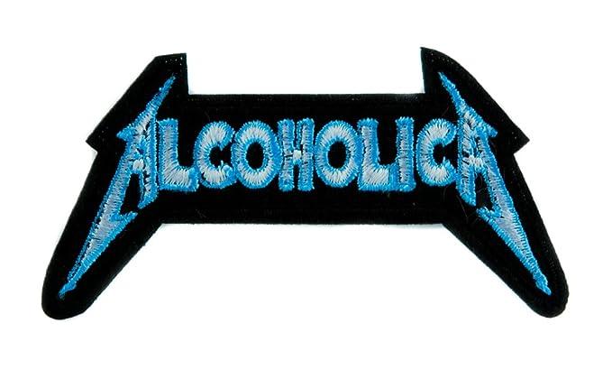 ed83d2c3e08 Amazon.com  Alcoholica Metallica Spoof Patch Iron on Applique ...